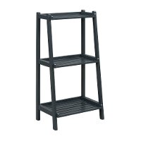 Graphite 3 Tier Wooden Ladder Shelf - Dunnsville