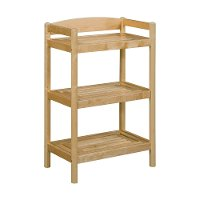 Adjustable Blonde Low Bookcase / Media Tower - Exmore
