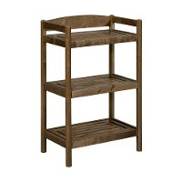 Adjustable Antique Chestnut Low Bookcase / Media Tower - Exmore