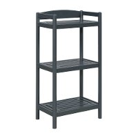 Adjustable Graphite Wooden Bookcase / Media Tower - Exmore
