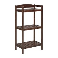 Merlot Wooden Bookcase / Media Tower with Adjustable Shelf