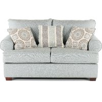 Casual Classic Mist Green Loveseat - Alison