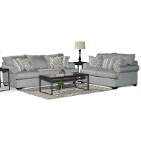 Casual Classic Mist Green 2 Piece Living Room Set - Alison