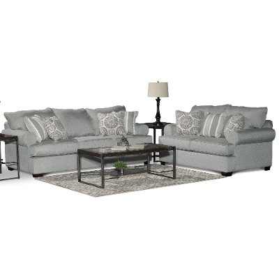 Casual Classic Mist Green 2 Piece Living Room Set - Alison   RC ...