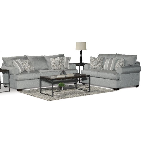 Casual Classic Mist Green 2 Piece Living Room Set   Alison