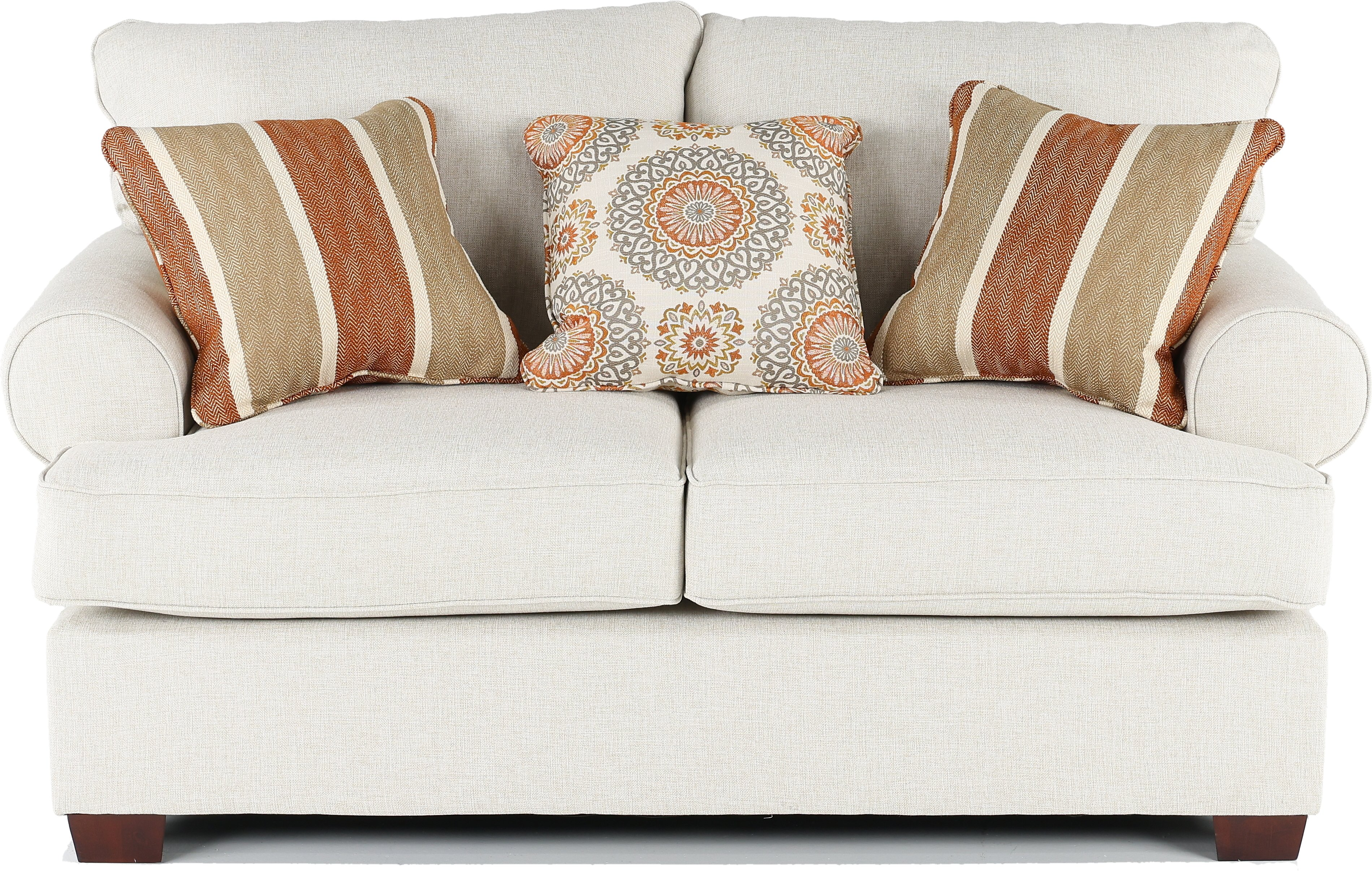 Linen living room loveseat fabric sofas f 7450 acme for Jordan linen modern living room sofa