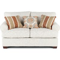 Casual Classic Linen Loveseat - Alison