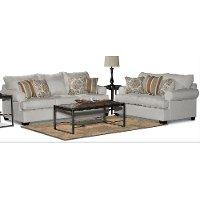 Casual Classic Linen 2 Piece Living Room Set - Alison
