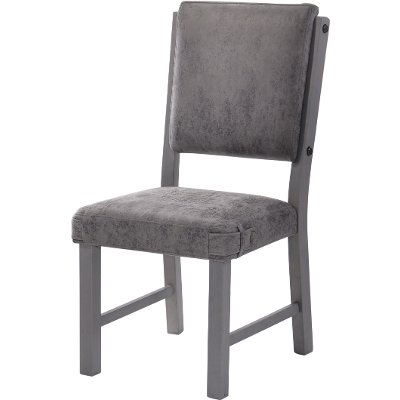 HM4290-18VG/SIDECHR Gray Upholstered Dining Chair - Factory