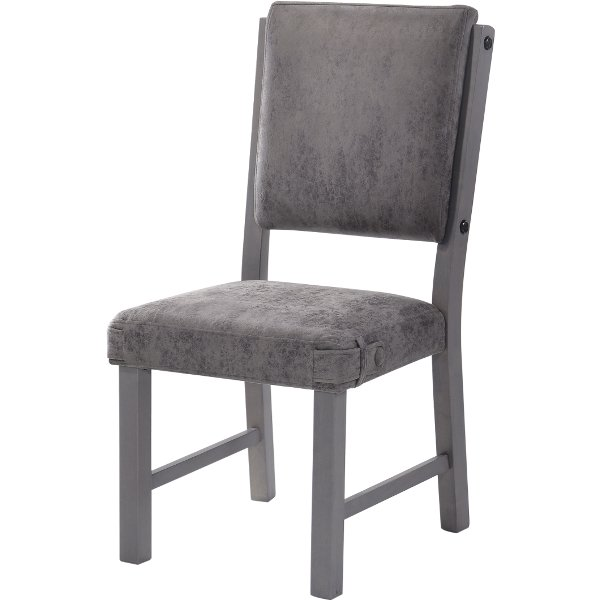 ... HM4290 18VG/SIDECHR Gray Upholstered Dining Chair   Factory