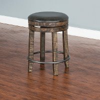 Tobacco Brown Backless Counter Stool - Barrel