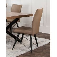 Putty and Black Modern Dining Chair - Empire