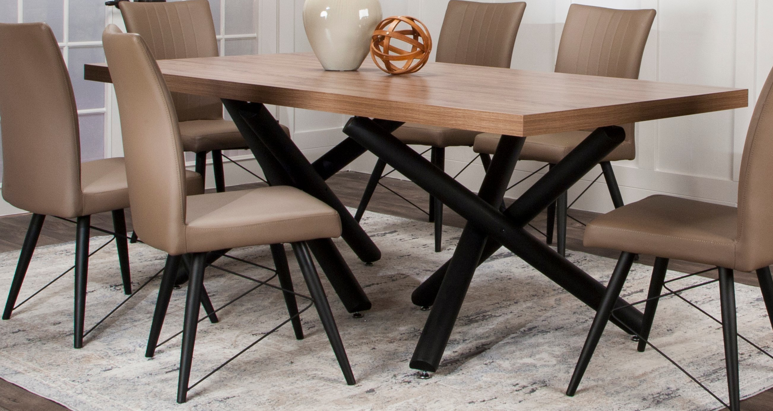 Putty and Black Modern 5 Piece Dining Set - Empire Collection | RC ...