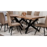 Hickory and Black Modern Dining Table - Empire