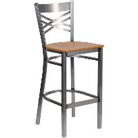 Metal Restaurant Barstool Natural Wood Seat RC Willey Furniture Store