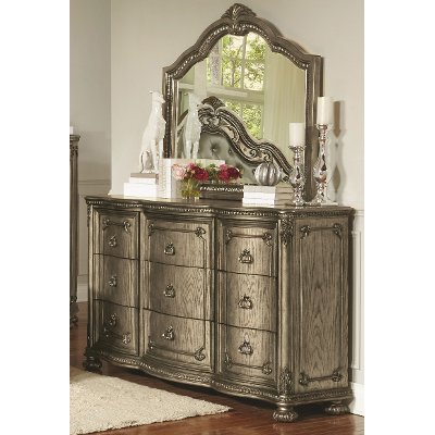 Traditional Platinum Gold Dresser - Seville