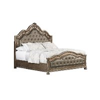 Traditional Platinum Gold King Upholstered Bed - Seville