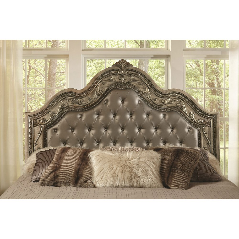 Traditional Platinum Gold 6 Piece King Bedroom Set   Seville | RC Willey  Furniture Store
