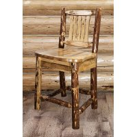 MWGCBSWNR24 Counter Height Stool w/ Back - Glacier