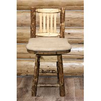 MWGCBSWSNRBUCK24 Counter Height Swivel Bar Stool w/ Back - Glacier