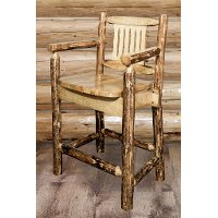 MWGCBSWCAS24 Counter Height Captain's Bar Stool- Glacier