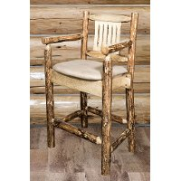 MWGCBSWCASBUCK24 Counter Height Captain's Bar Stool - Glacier