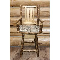 MWGCBSWSCASWILD24 Counter Height Swivel Captain's Bar Stool - Glacier