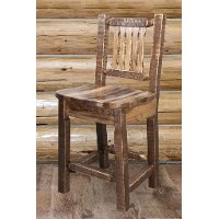 MWHCBSWNRSL24 Counter Height Stool w/ Back - Homestead