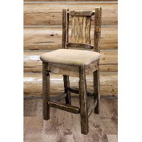 MWHCBSWNRSLBUCK24 Counter Height Stool w/ Back - Glacier