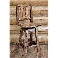 MWHCBSWSNRSL24 Counter Height Swivel Bar Stool w/ Back - Homestead