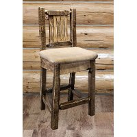 MWHCBSWSNRSLBUCK24 Counter Height Swivel Bar Stool w/ Back - Homestead