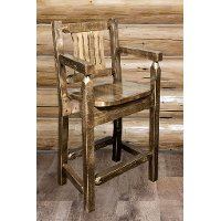 MWHCBSWCASSL24 Counter Height Captain's Bar Stool - Homestead