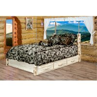 MWSBPQV Queen Platform Bed w/ Storage - Montana