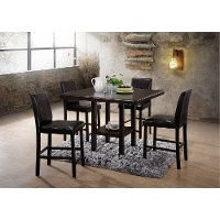 5PC:HM102-BR/COUNTER Espresso 5 Piece Counter Height Dining Set - City