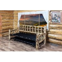 MWDBTV Twin Day Bed w/ Pop Up Trundle Bed - Montana