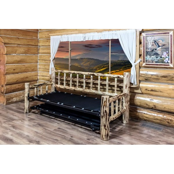 ... MWDBTV Twin Day Bed W/ Pop Up Trundle Bed   Montana