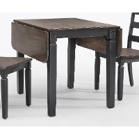 Black Drop Leaf Table - Glennwood