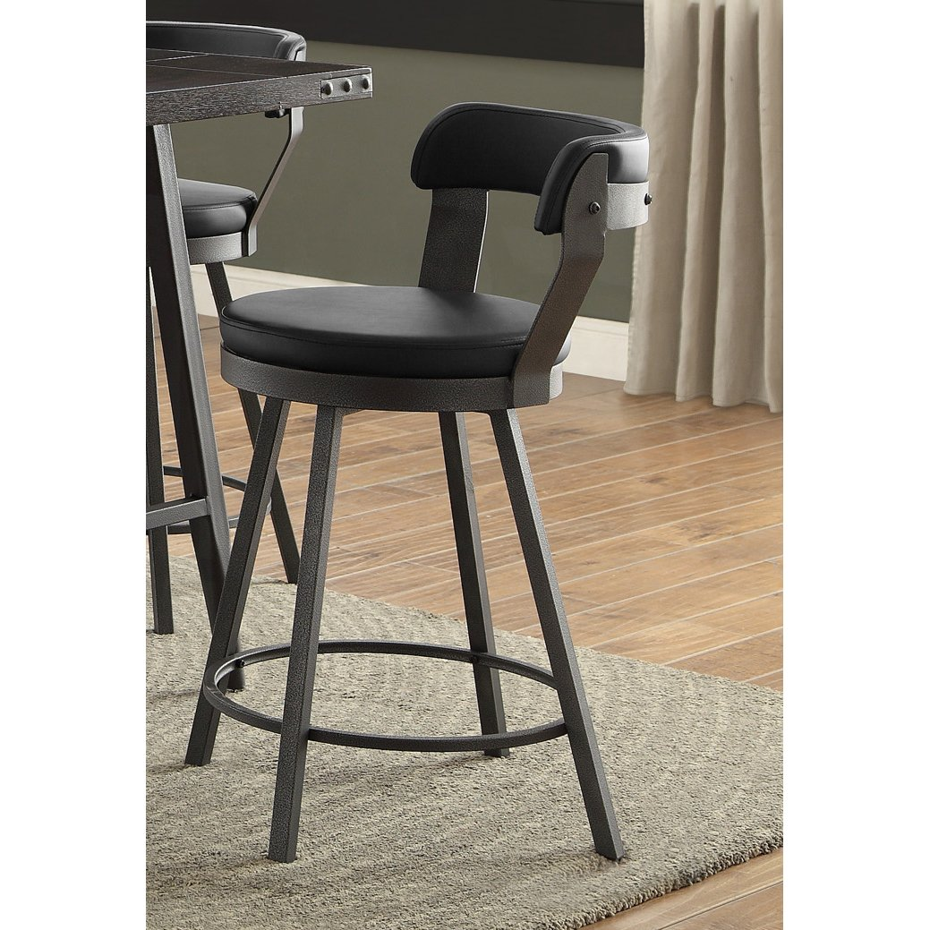 Gunmetal And Black Modern Counter Height Bar Stool   Appert | RC Willey  Furniture Store