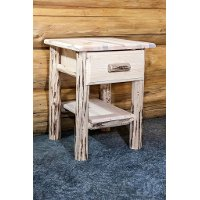 MWNDV Nightstand with Drawer & Shelf - Montana