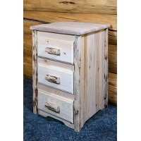 MWN3DV Nightstand with 3 Drawers - Montana