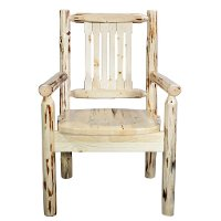 MWCASCNV Captain's Chair w/ Ergonomic Wooden Seat - Montana