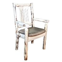 MWCASCNVBUCK Captain's Chair w/ Upholstered Seat - Montana