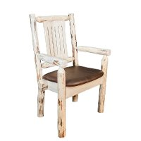 MWCASCNVSADD Captain's Chair w/ Upholstered Seat, Saddle Pattern - Montana