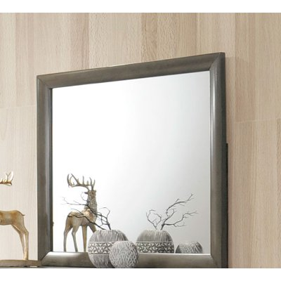 Contemporary Gray Mirror - Emily