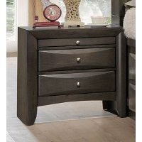 Contemporary Gray Nightstand - Emily