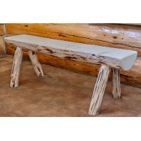 MWHLB6V Half Log 6 Foot Bench - Montana