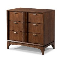 Brown Cherry Mid-Century Modern Nightstand - Simply Urban