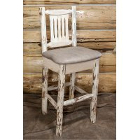 MWBSWNRVBUCK  Bar Stool w/ Back - Montana
