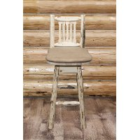 MWBSWSNRVBUCK Swivel Bar Stool w/ Back - Montana