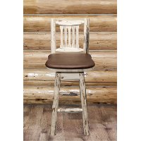 MWBSWSNRVSADD Swivel Bar Stool w/ Back - Montana